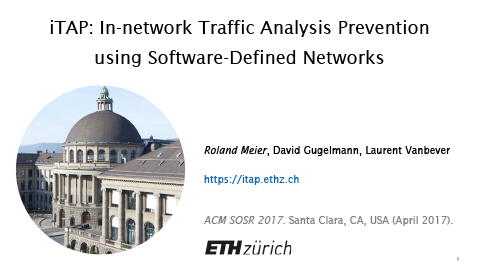 iTAP: In-network Traffic Analysis Prevention using Software-Defined Networks